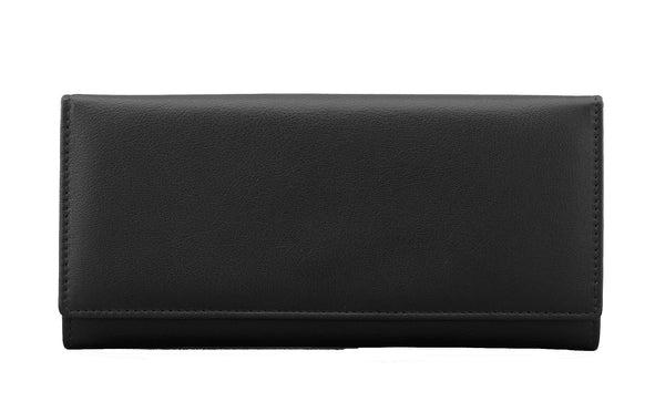 Yoshi Black Leather Matinee Purse