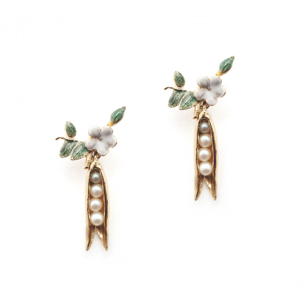 Bill Skinner Pea Pod Earrings
