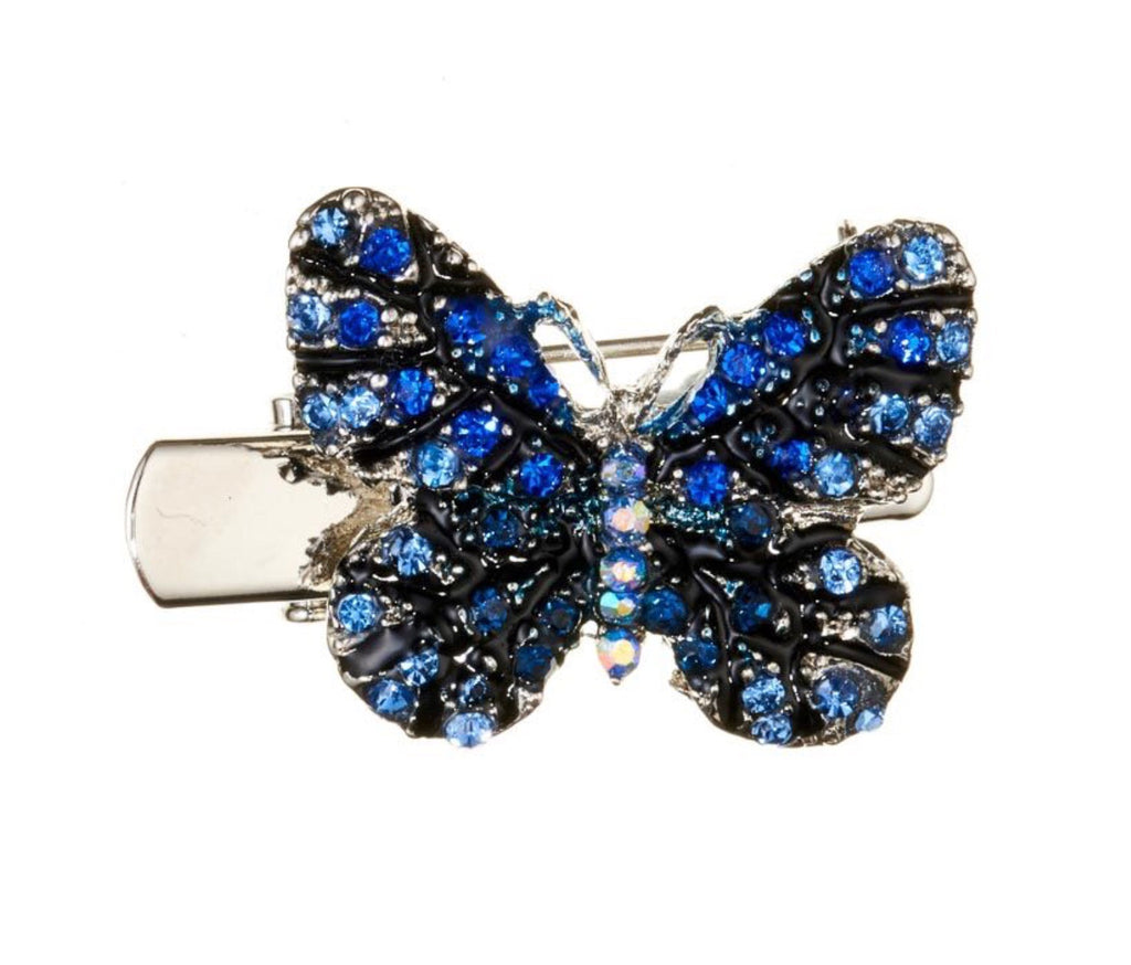Rosie Fox Blue Butterfly Mini Brooch and Hairslide
