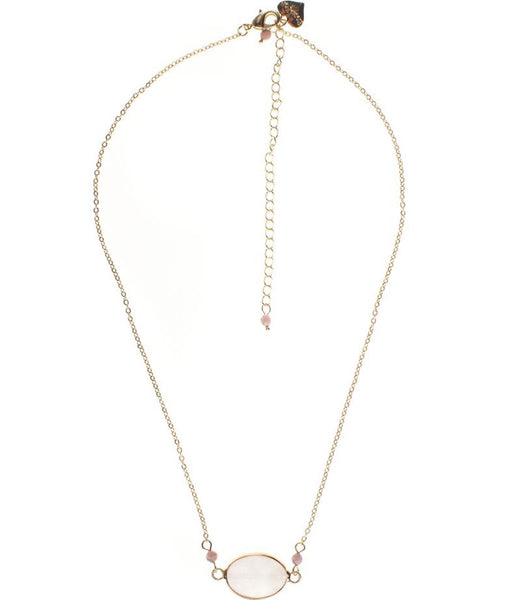 Rosie Fox Rose Quartz Gemstone Necklace