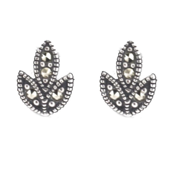 Chicago Silver Marcasite Earrings