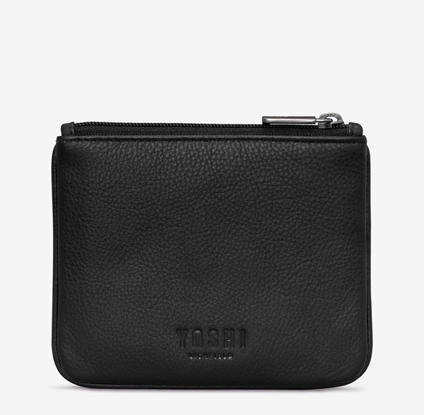 Yoshi Bookworm Black Leather Coin Purse