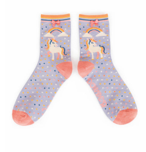 Powder Unicorn Bamboo Ankle Socks