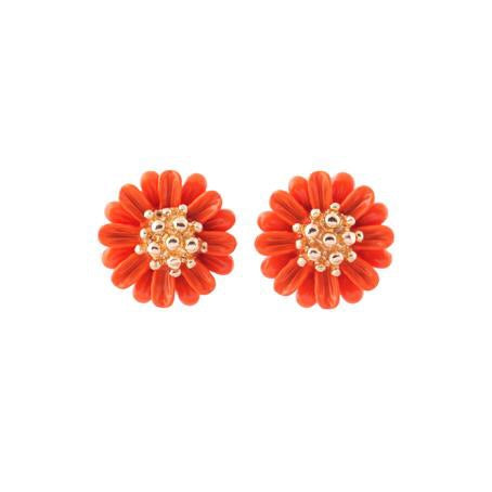 Last True Angel Orange Daisy Stud Earrings