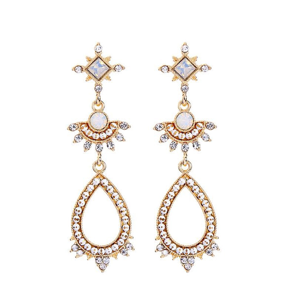 Last True Angel Fine Bead & Crystal Statement Earrings