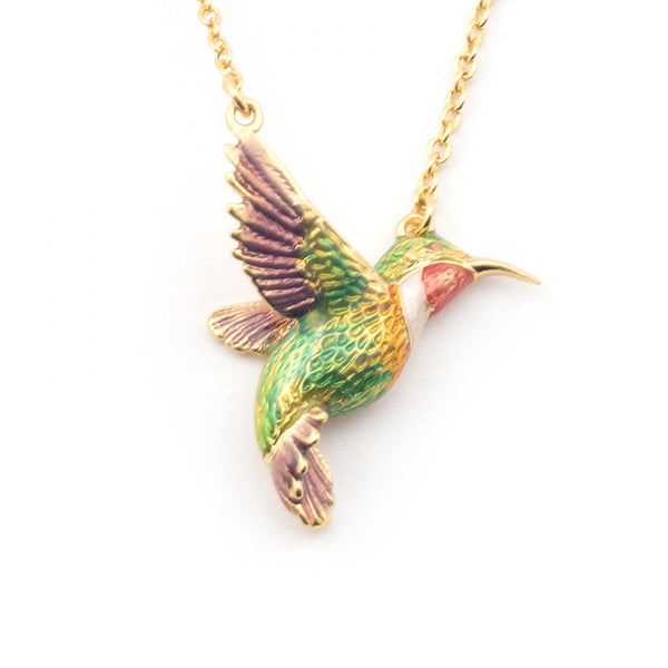 Bill Skinner Mini Hummingbird Pendant Necklace