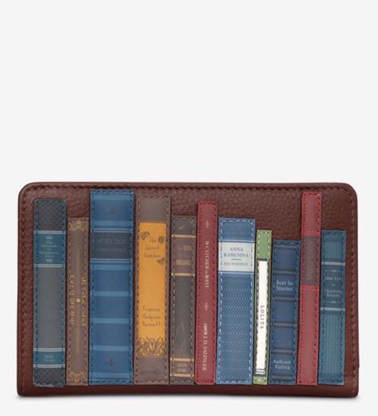 Yoshi Bookworm Brown Leather Purse