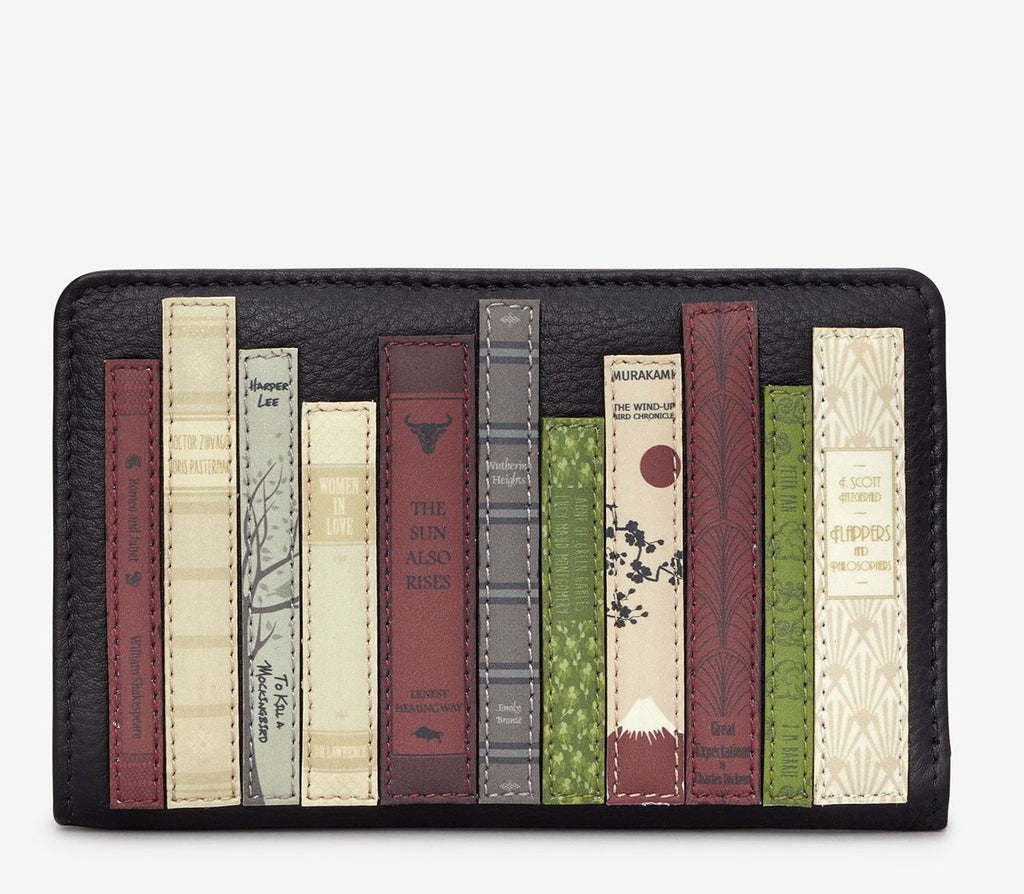Yoshi Bookworm Black Leather Zip Around Purse