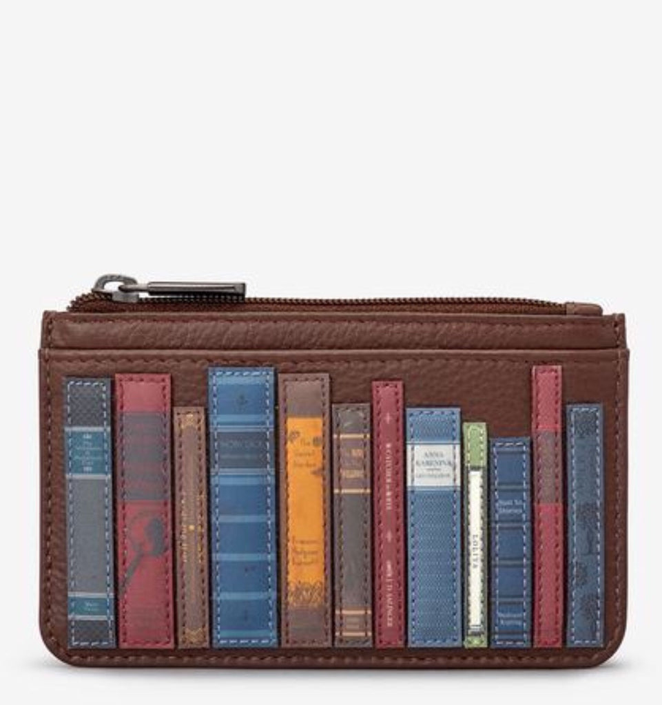 Yoshi Bookworm Brown Leather Card Holder Purse