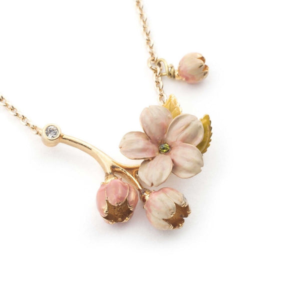 Bill Skinner Cherry Blossom Necklace