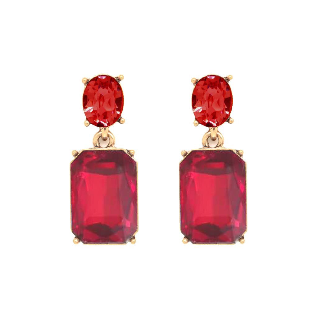 Last True Angel Ruby Red Gem Earrings