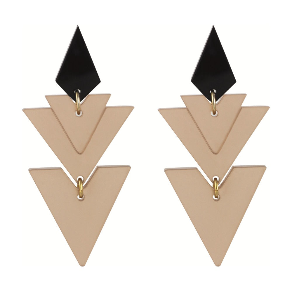 Toolally Tiered Drop Earrings in Nude