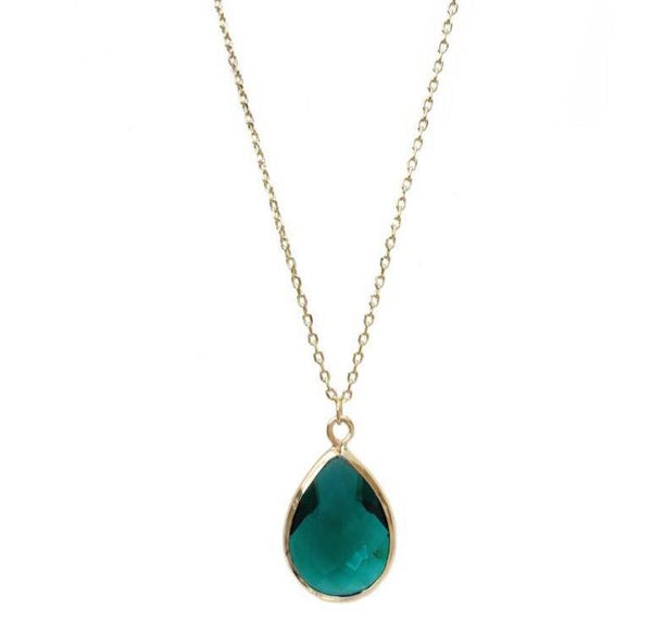 Last True Angel Emerald Green Teardrop Pendant