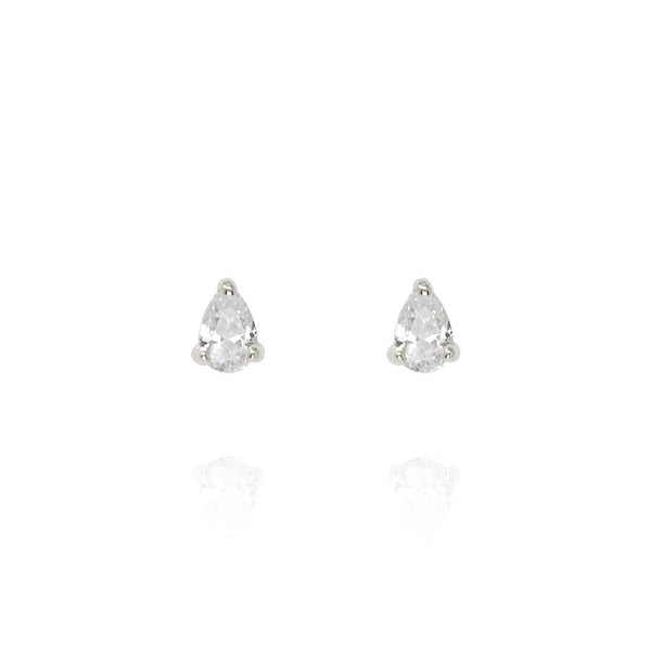 Penny Levi Silver Teardrop CZ Stud Earrings
