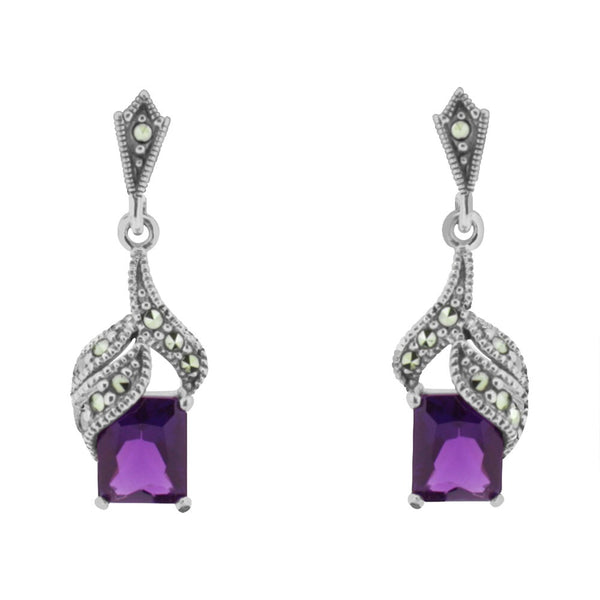 Chicago Amethyst Drop Earrings