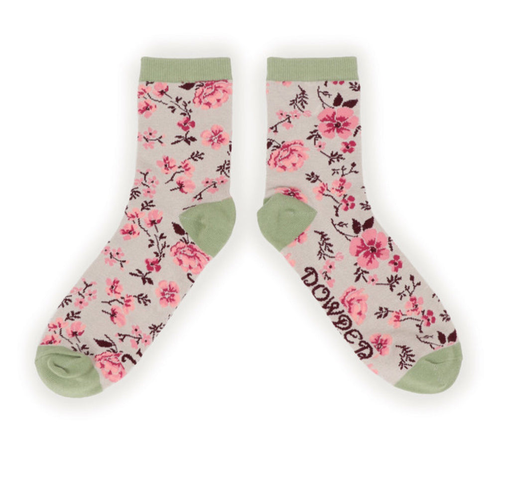 Powder Pink Blossom Bamboo Ankle Socks