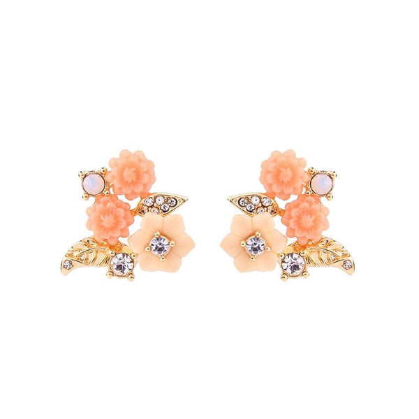 Last True Angel Blush Pink Flower Studs