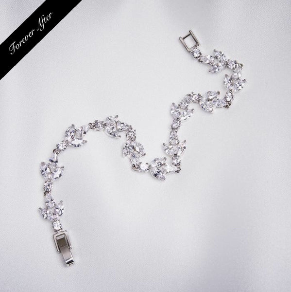 Lovett & Co Crystal Leaf Bracelet