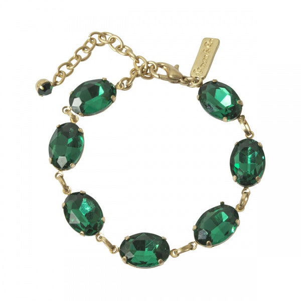 Lovett & Co Oval Stone Bracelet in Emerald