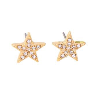 Last True Angel Star Stud Earrings Gold