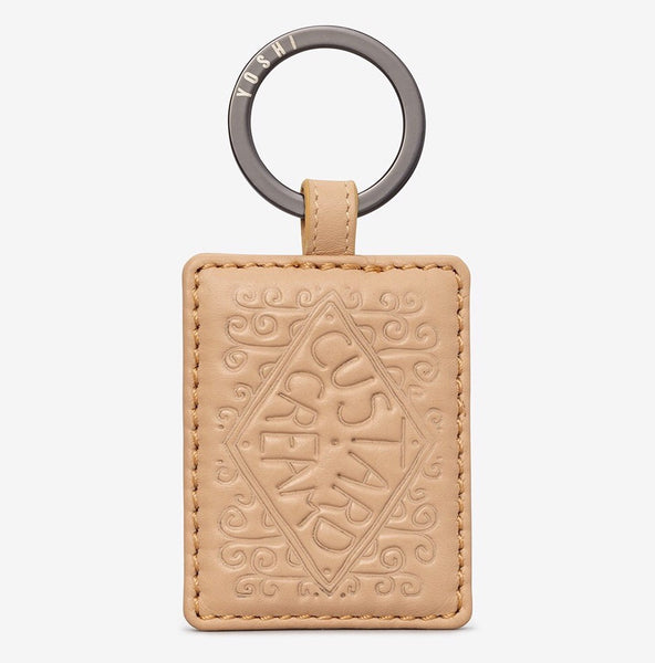 Yoshi Custard Cream Leather Keyring