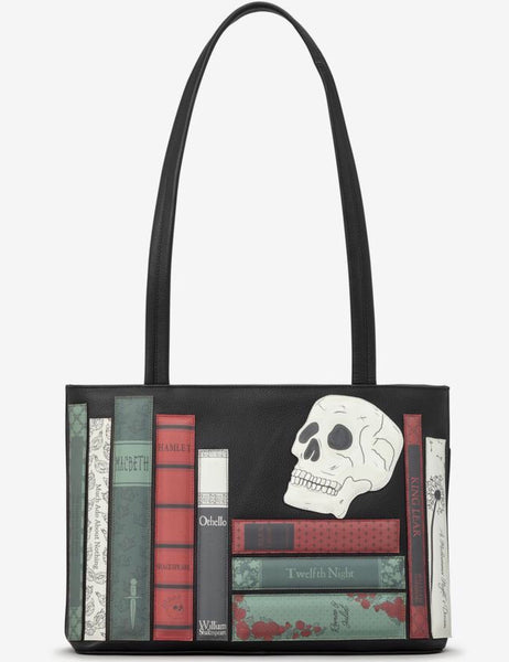 Yoshi Shakespeare Bookworm Black Leather Shoulder Bag
