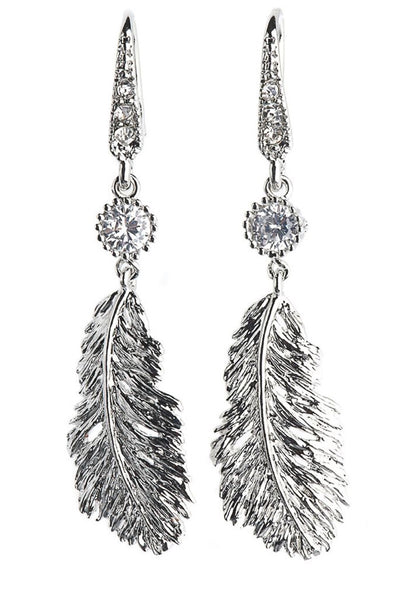 Rosie Fox Silver Feather Earrings
