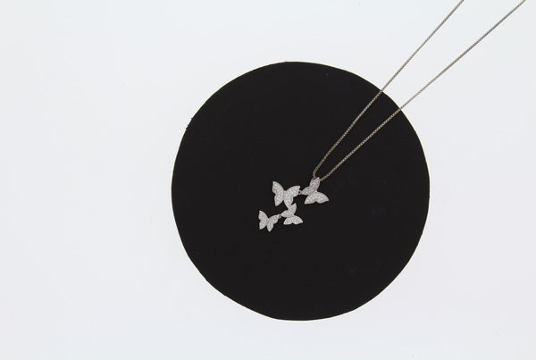 Nour London Silver Butterfly Necklace