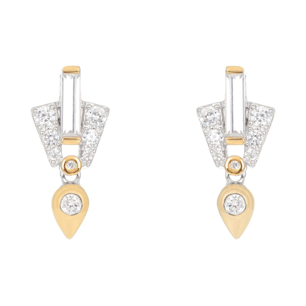 V Jewellery Aida Earrings Ft. Gold