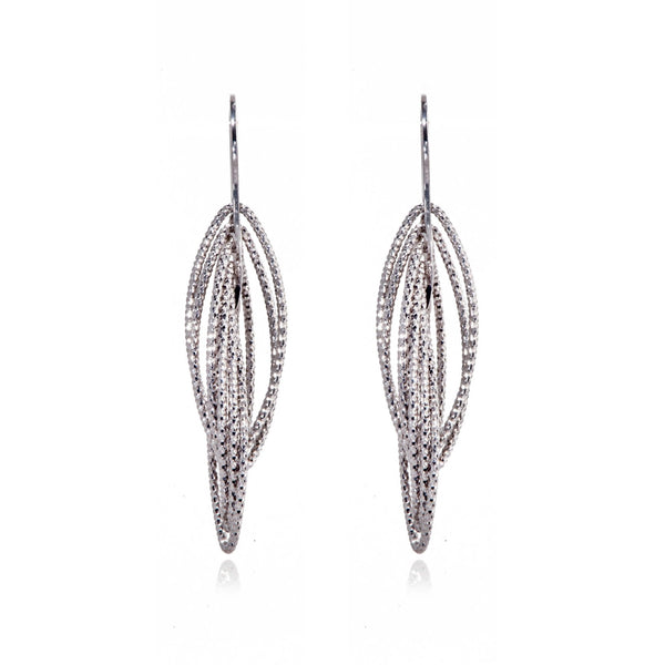 Penny Levi Multi Hoop Intertwined Diamond Cut Earrings
