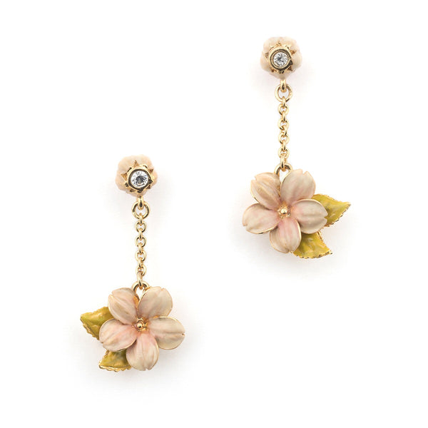 Bill Skinner Cherry Blossom Drop Earring