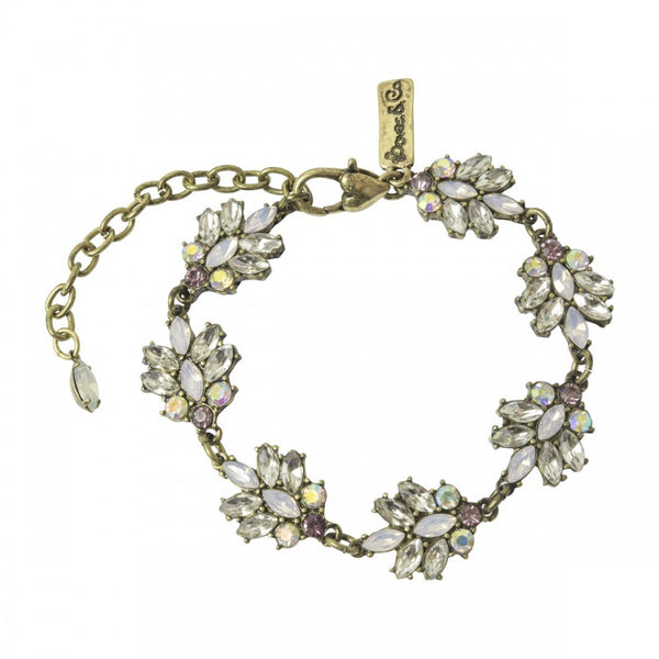 Lovett & Co Lily Stone Leaf Drop Bracelet