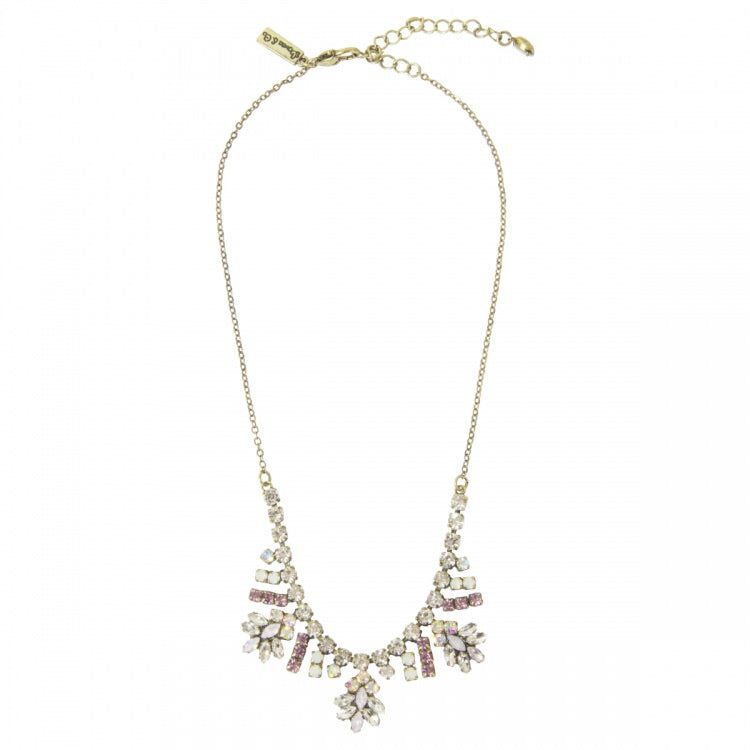 Lovett & Co Lily Stone Leaf Drop Necklace
