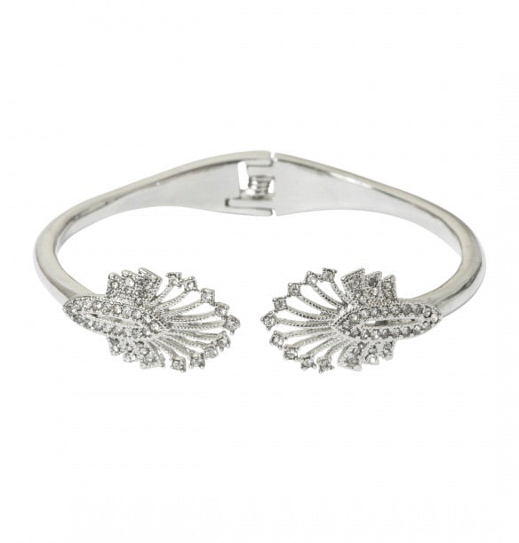 Lovett & Co Deco Statement Hinged Bangle