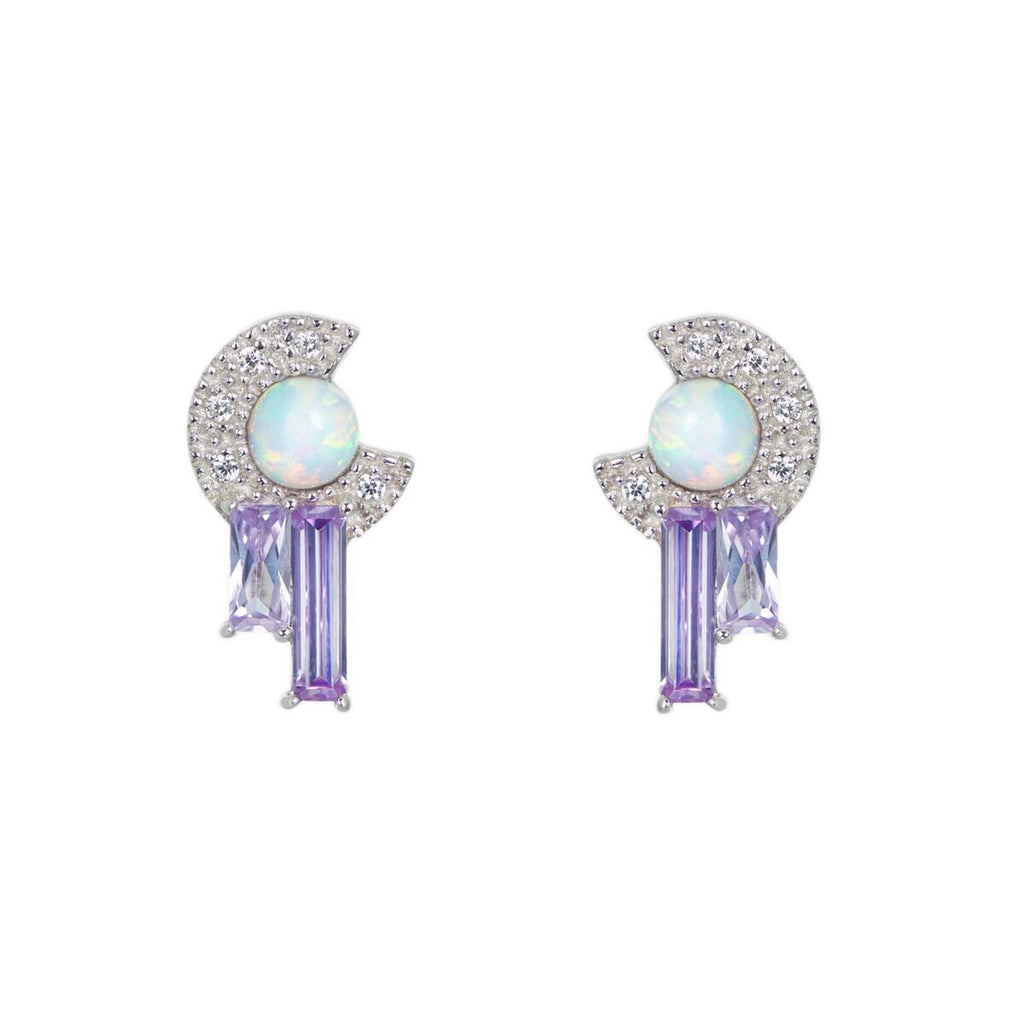V Jewellery Robyn Earrings in Lavender