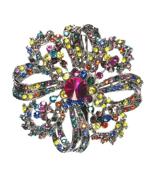Rosie Fox Rainbow Swirl Flower Brooch & Hair Slide
