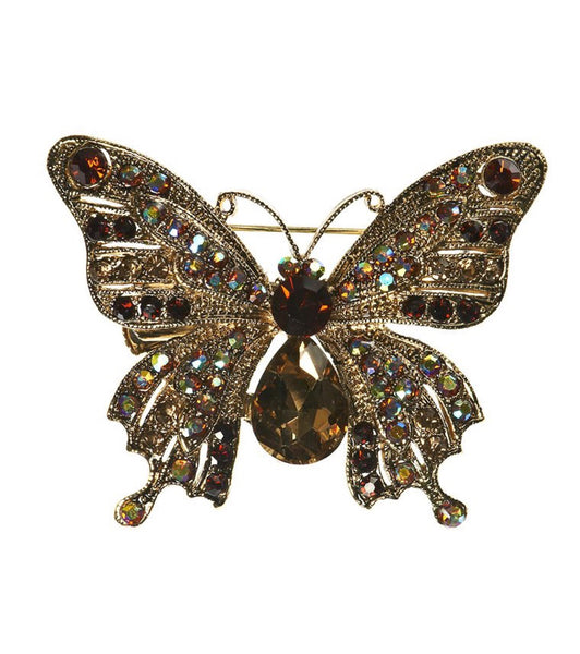 Rosie Fox Golden Butterfly Brooch & Hairslide