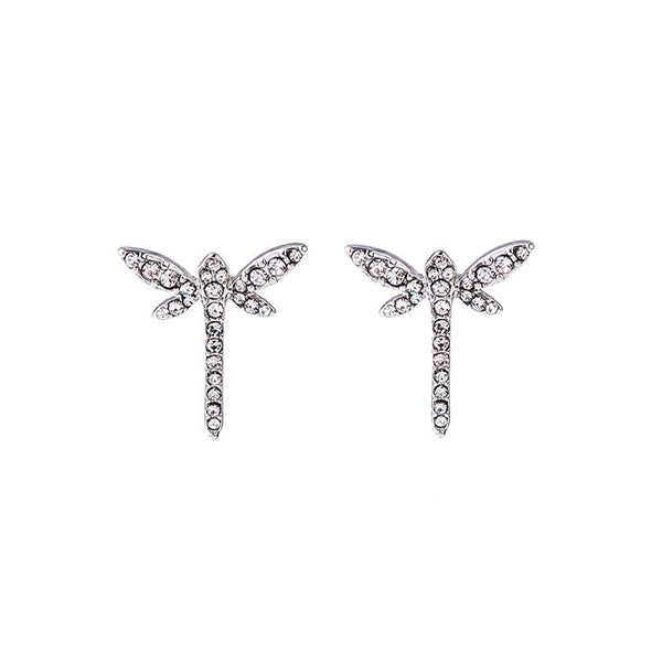 Last True Angel Crystal Dragonfly Stud Earrings