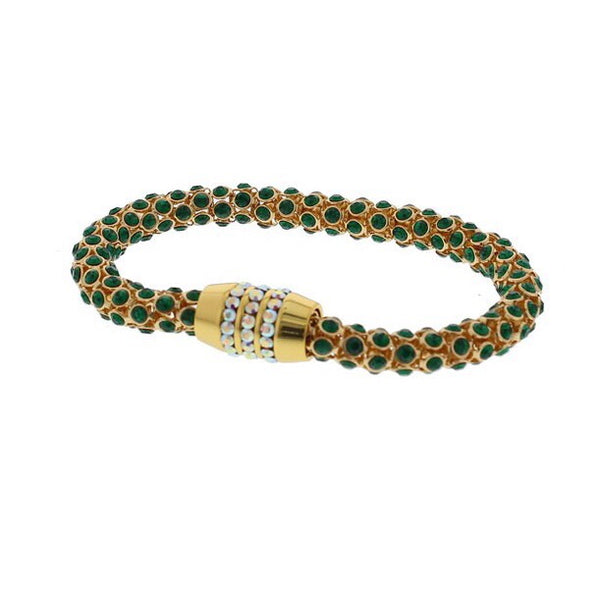 Nour London Emerald Green Crystal Magnetic Bracelet