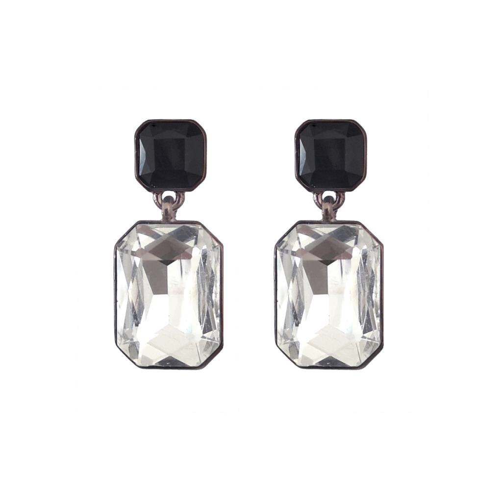 Last True Angel Simple Gem Monochrome Earrings