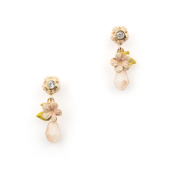 Bill Skinner Cherry Blossom Stone Drop Earrings