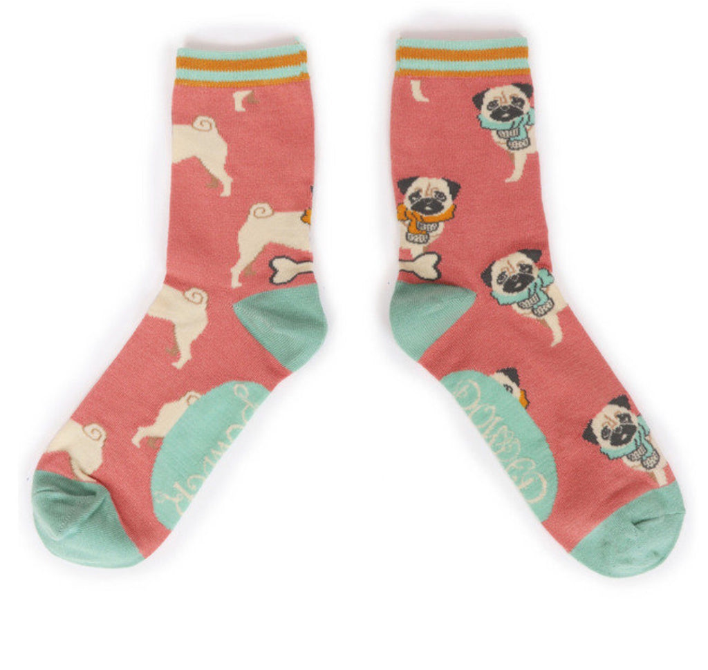 Powder Cosy Pug Ankle Sock