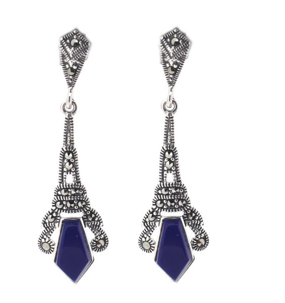Chicago Lapis Earrings