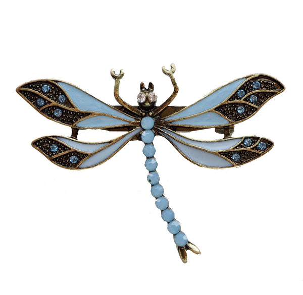 Lovett & Co Blue Dragonfly brooch