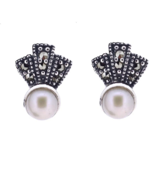 Chicago Pearl Fan Earrings