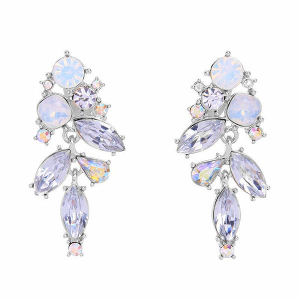 Last True Angel Clear and Opal Crystal Drop Earrings