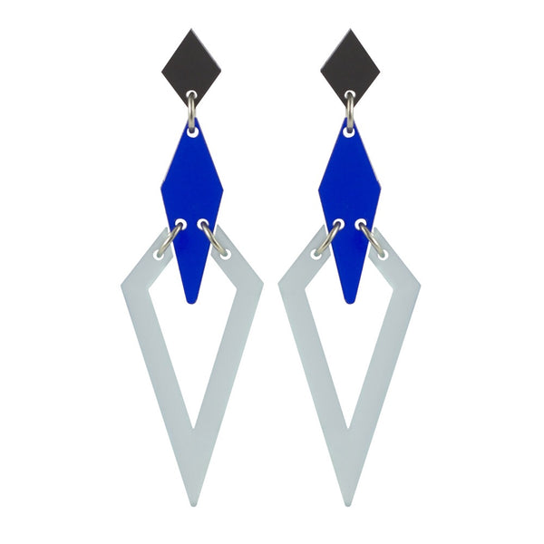 Toolally Iris Earrings in Chatelaine Blue