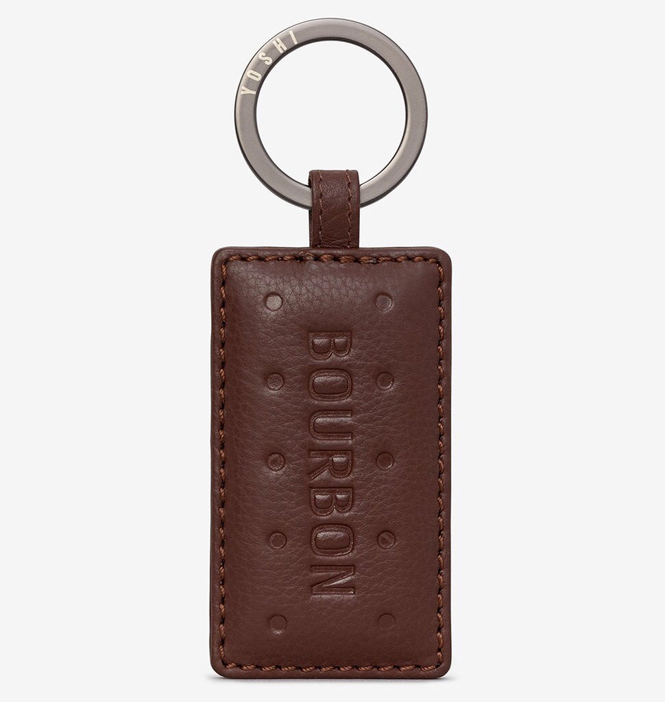 Yoshi Bourbon Biscuit Leather Keyring