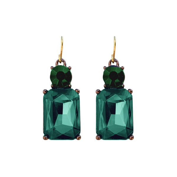 Last True Angel Emerald Green Gem Drop Earrings
