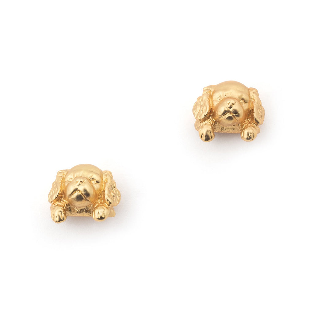 Bill Skinner Puppy Spaniel Stud Earrings